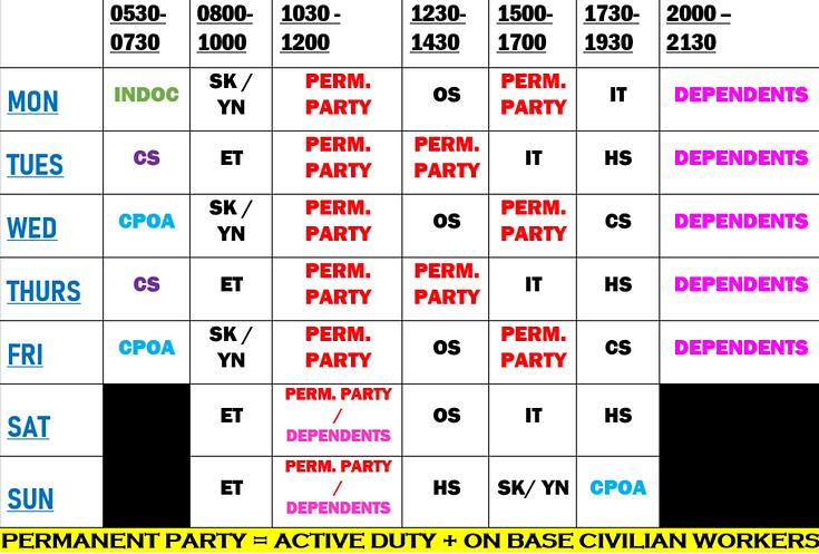 Red Tier Gym Schedule