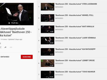 """EMTA õppejõudude videod """"Beethoven 250 – klassika kutse"""""""