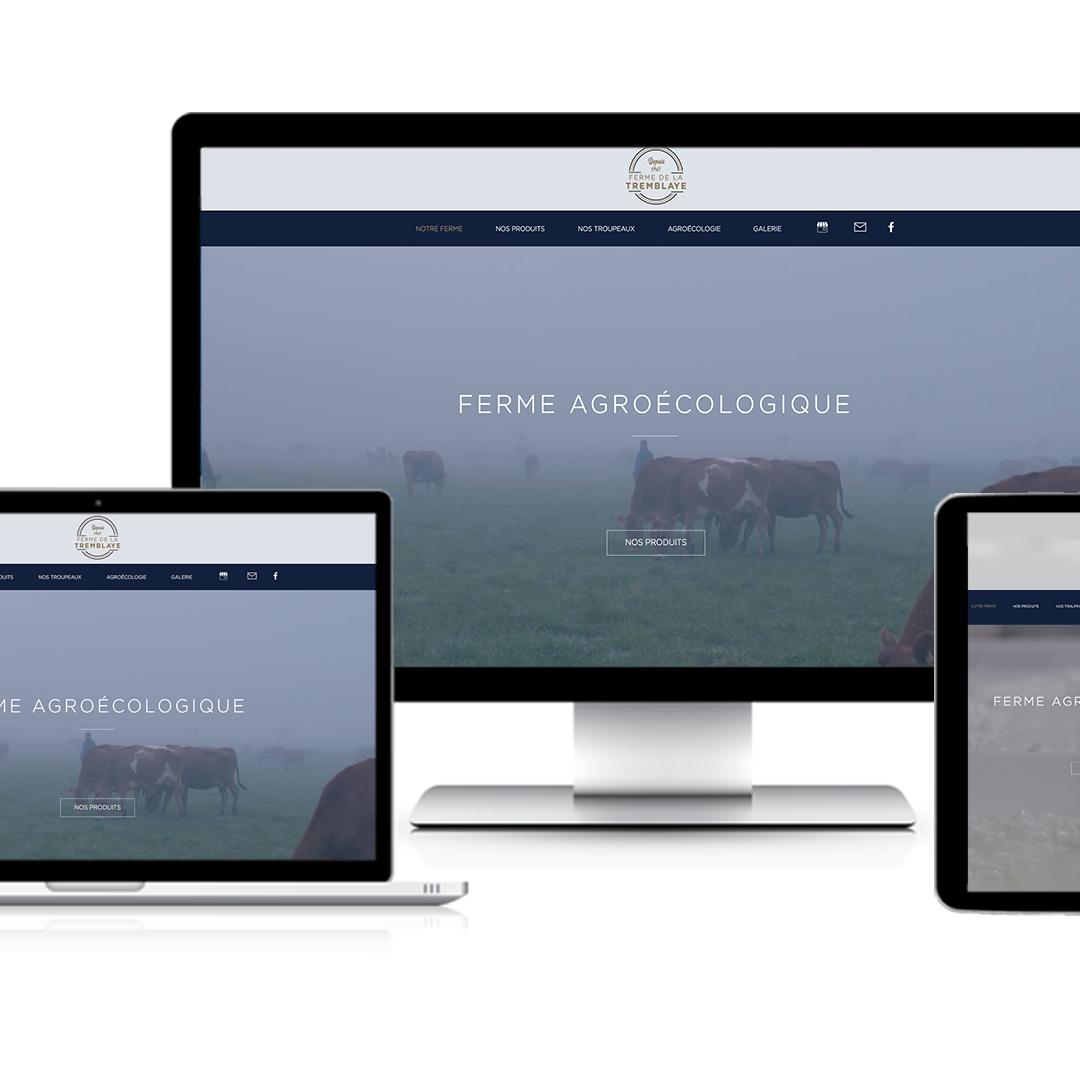 """Site web """"La Ferme de la Tremblaye"""""""