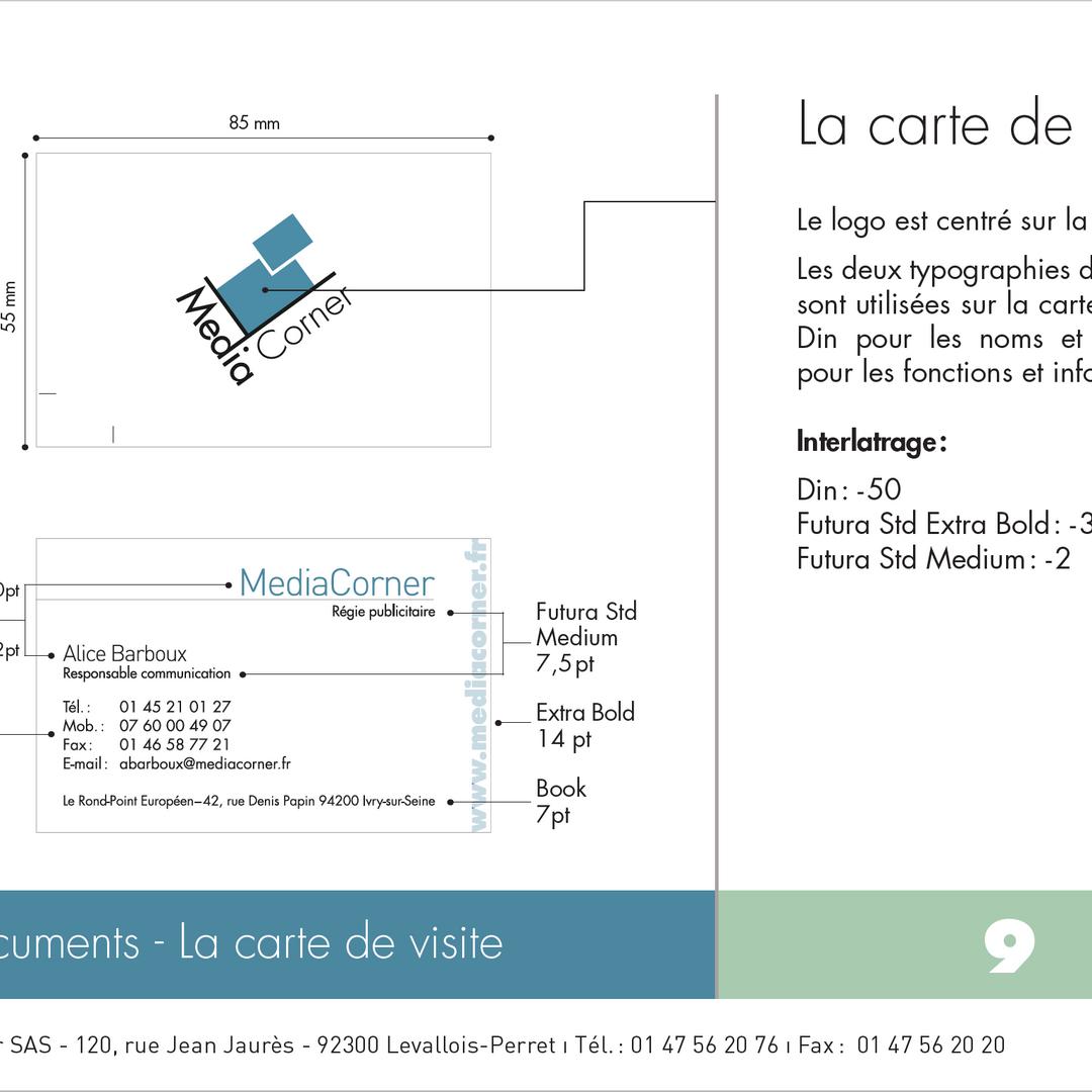 MediaCorner - Charte graphique