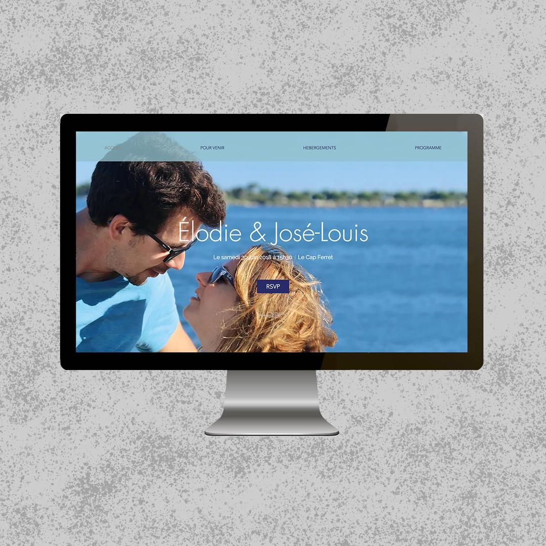 Site web pour un mariage