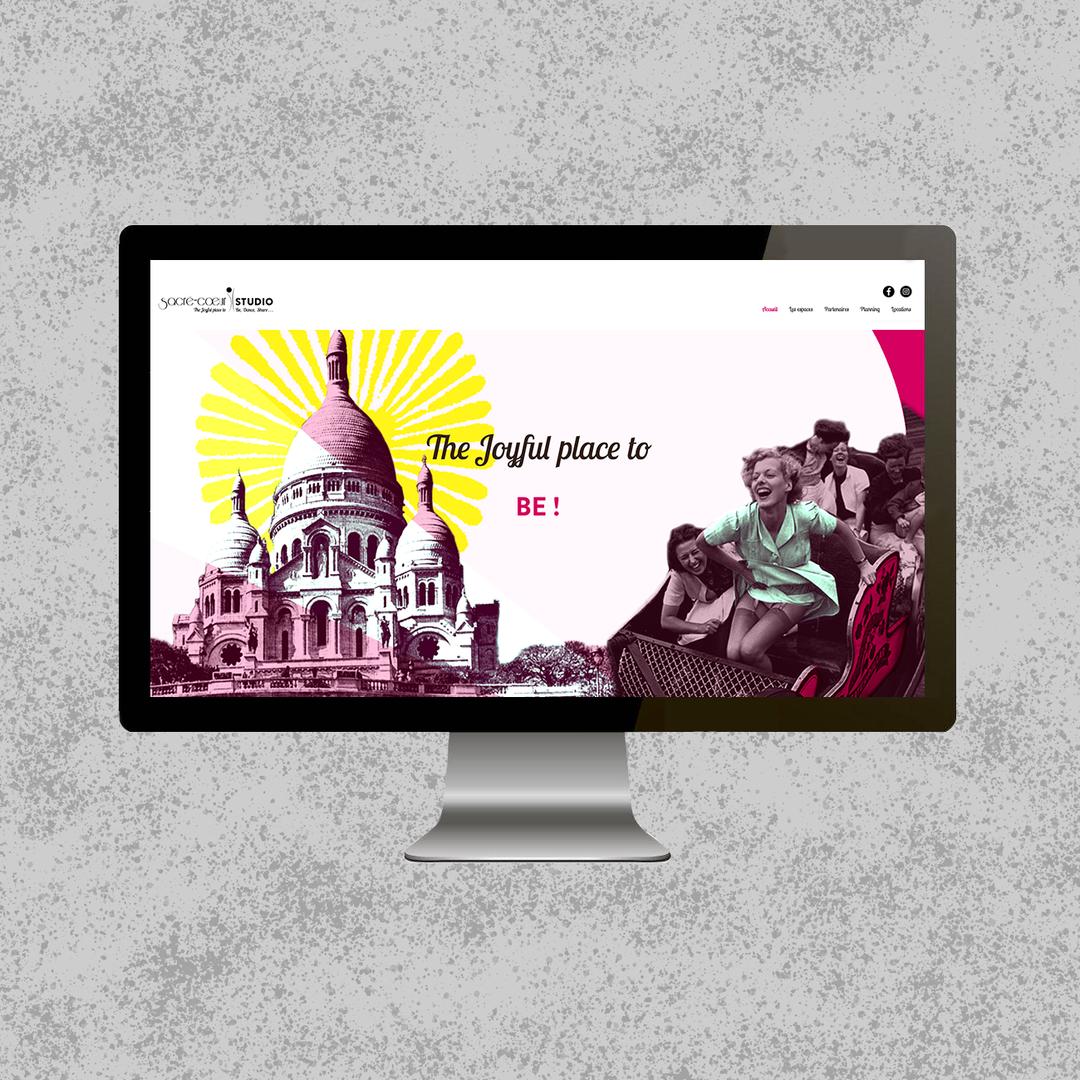 """Site web """"Sacré-Cœur Studio"""""""