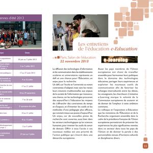 Livret - Les universités européennes d'été
