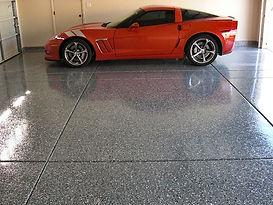 Gallant Garage Epoxy Flooring Red Vette