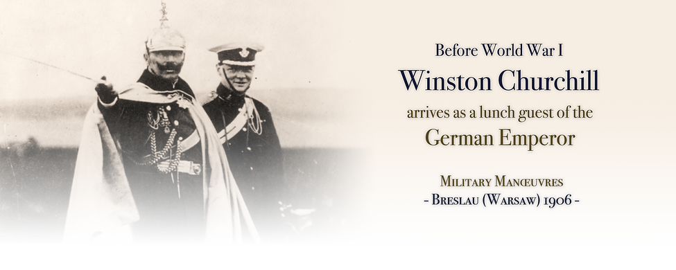 Royal Menus - Churchill and Kaiser - 190