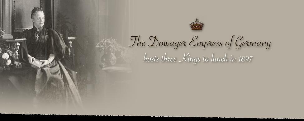 Royal Menus - empress friedrich - 1897 c