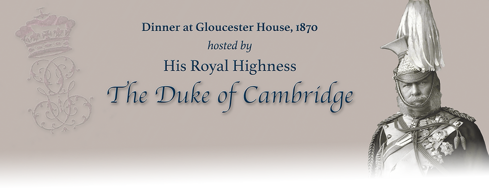 Royal Menus - duke of cambridge - 1870.p