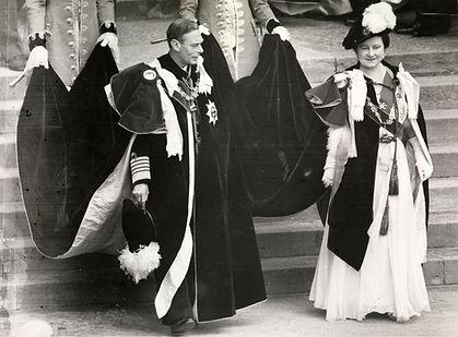 Royal Menus - George VI - garter photo -