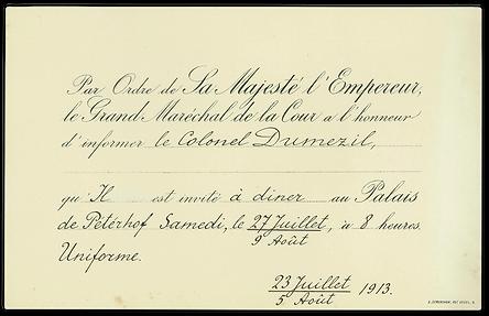 Tsar+-+1913+-+invitation+-+joffre+-+Pete