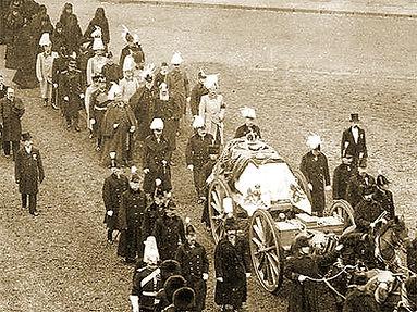 Royal Menus - Queen Victoria - funeral p