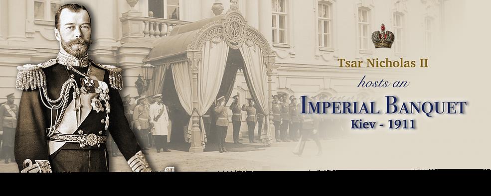 Royal Menus - Tsar Nicholas II - Kiev -