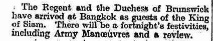 King Siam - 27 January 1910 - The Times.