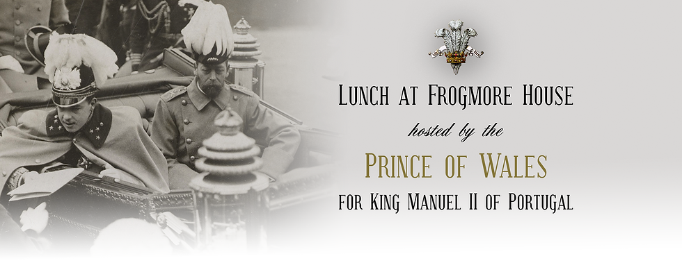 Royal Menus - GV- frogmore king manuel p
