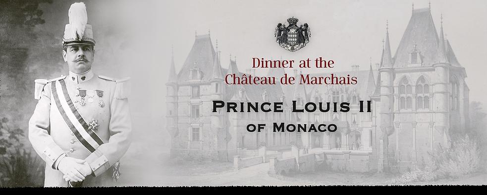 Royal Menus - prince louis II - monaco -
