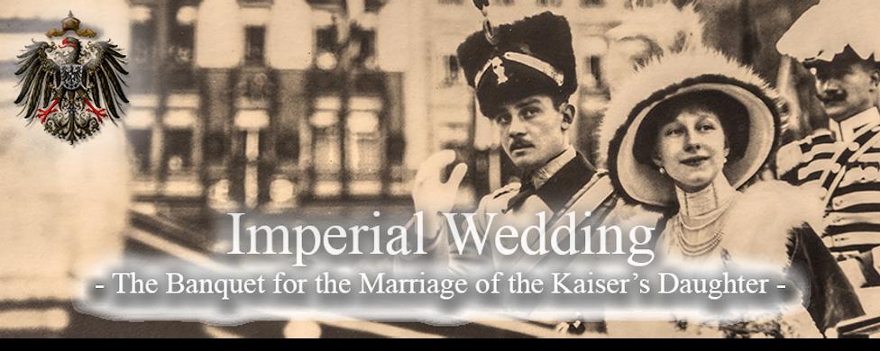 Royal Menus - Viktoira Luise wedding to