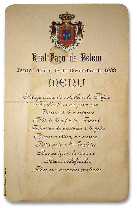 Royal Menus - King Carlos I - Portugal 1