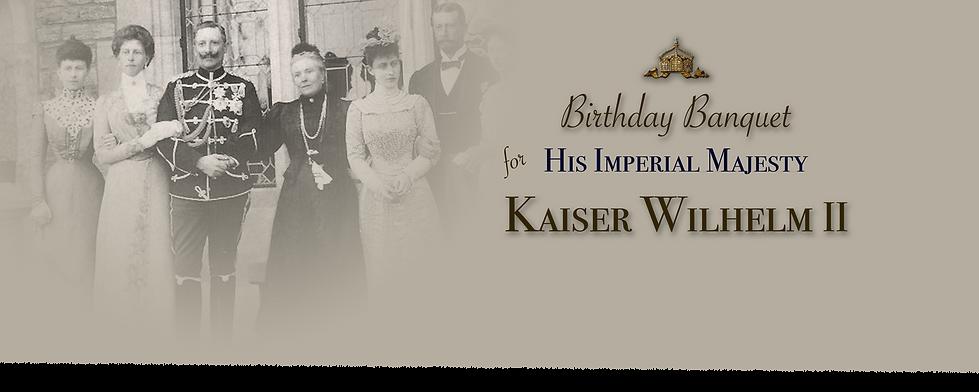 Royal Menus - Kaiser wilhelm birthday.pn