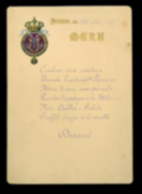 Royal Menus - King Umberto I of Italy -