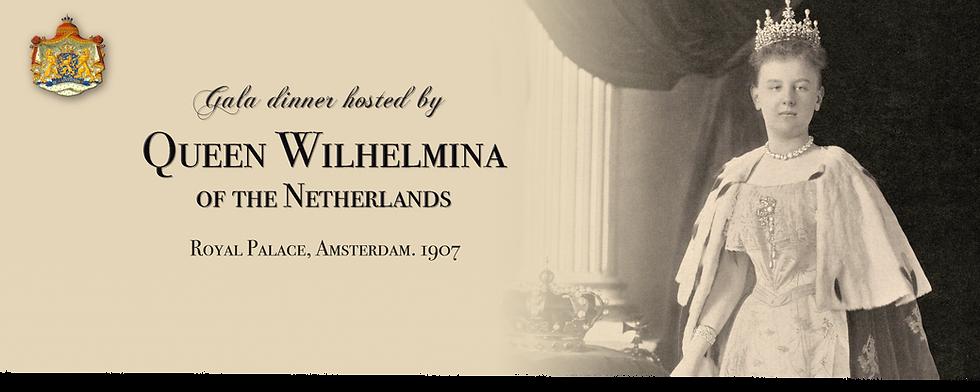 Royal Menus - Queen Wilhelmina Netherlan