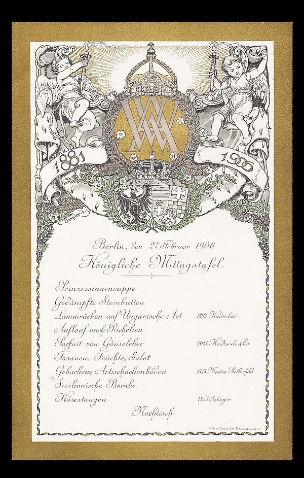 Kaiser Wilhelm II silver wedding anniver