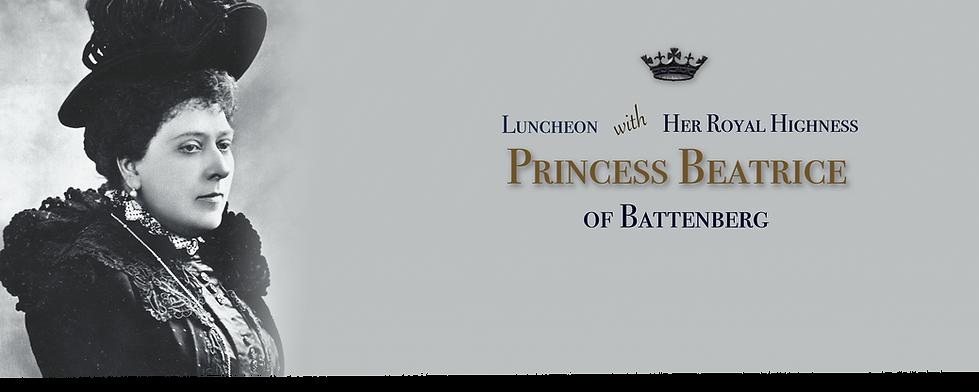 Royal Menus - princess beatrice - lunche