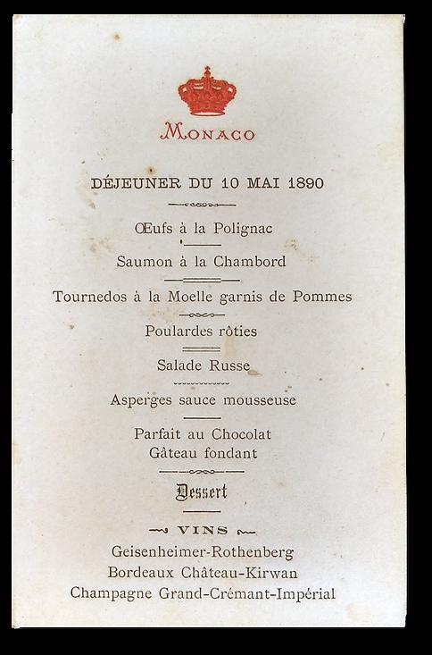 Royal Menus - Prince Monaco  - 1890.png