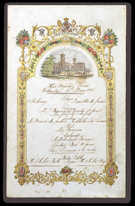 royal menus - queen vitoria - wedding an