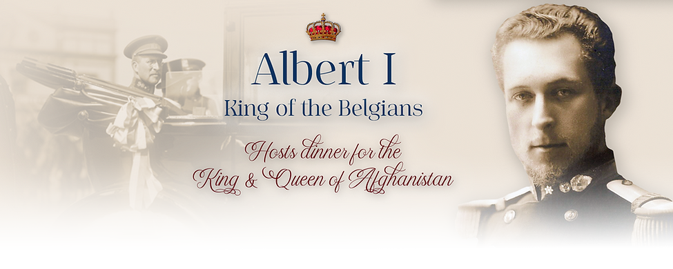 Royal Menus - king albert belgians - afg