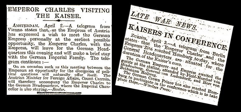 Royal Menus - Kaiser Karl I meets Kaiser