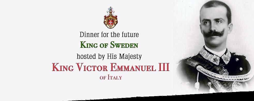Royal Menus - King of Italy - victor emm