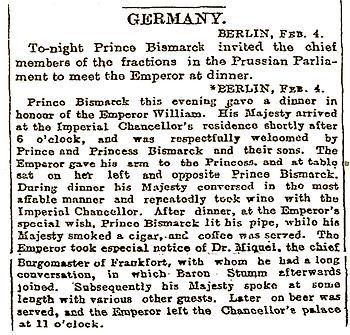 Royal Menus - Bismarck Clipping - 4 Feb