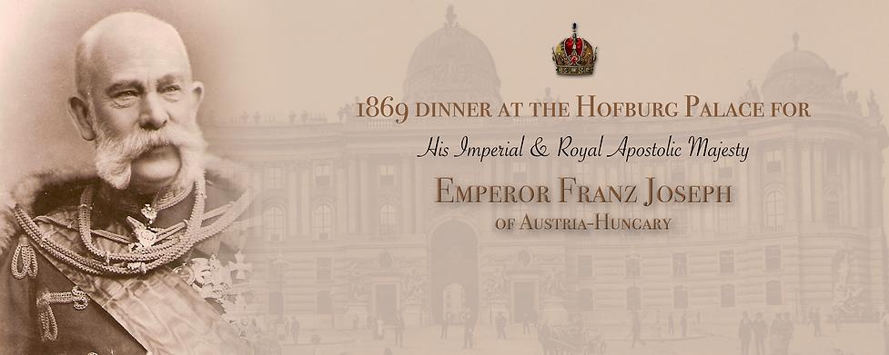 Royal Menus - Franz Joseph - 1869 Hofbur