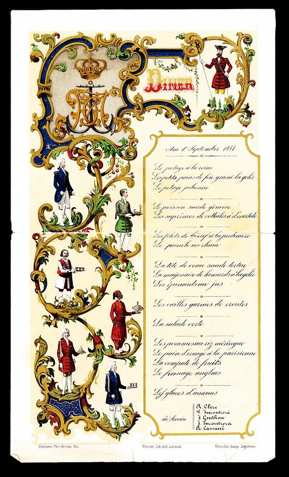 royal menus - archduke franz maximilian