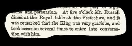 Royal Menus - Clipping - The Times - 27