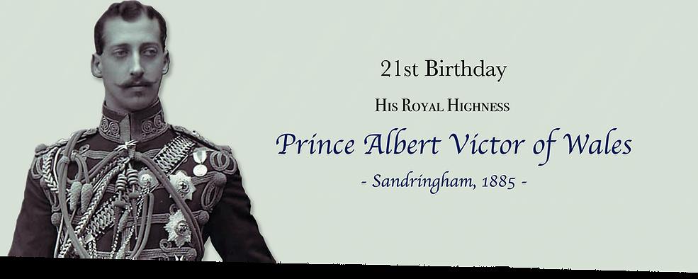 Royal Menus - prince albert victor wales