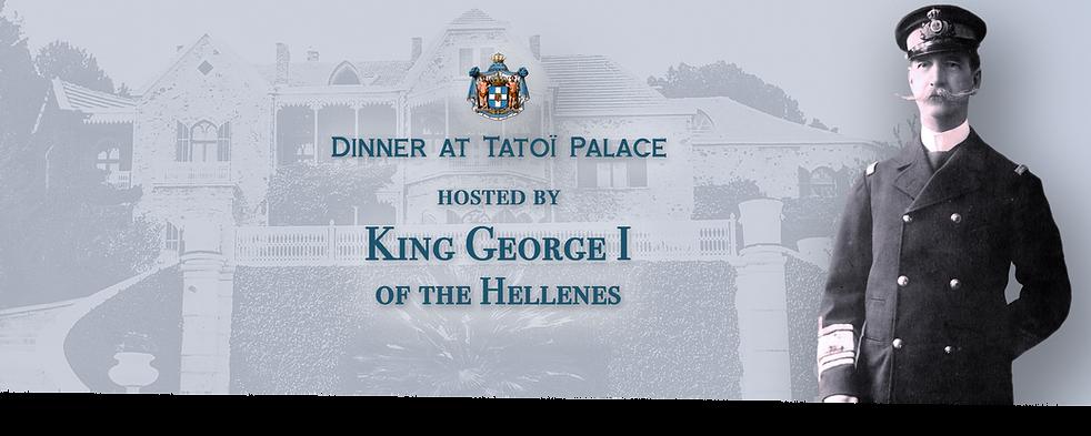 Royal Menus - King George Hellenes - din