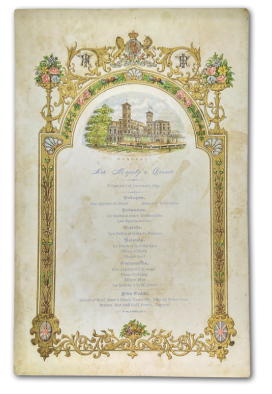 Royal Menus - Queen Victoria - New Years