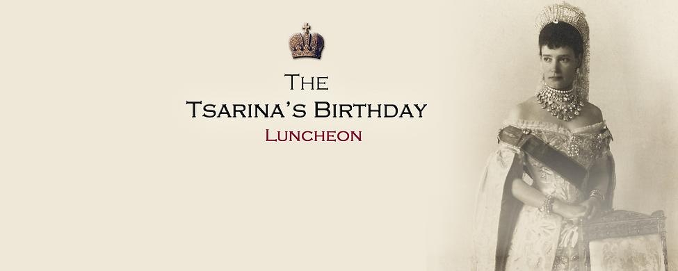 Royal Menus - Tsarinas birthday luncheon