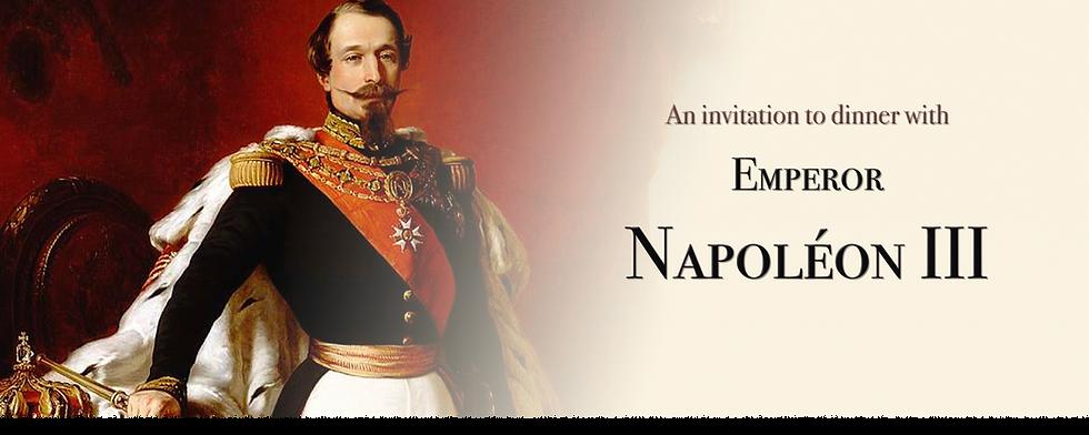 Royal Menus - Emperor Napoleon III - inv