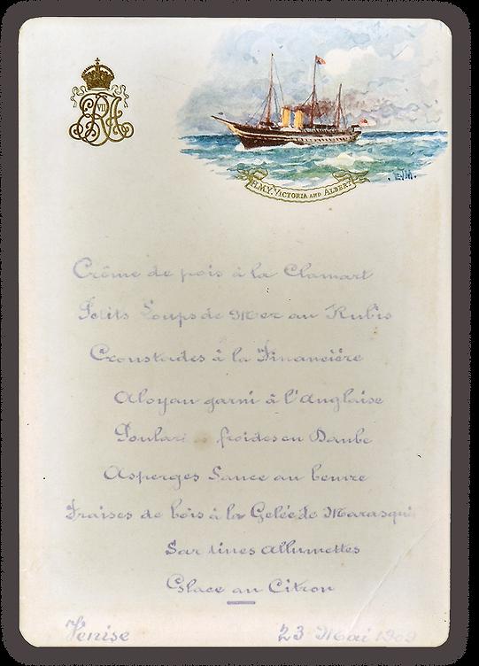 Royal Menus - EVII - royal yacht veinice