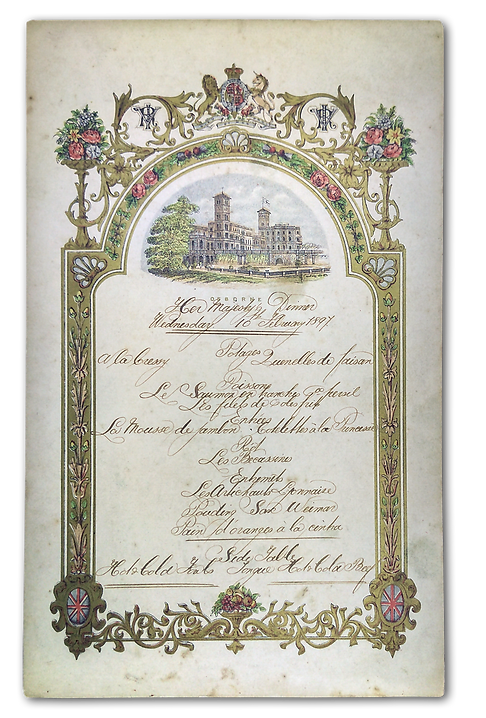 Royal Menus - queen victoria - wedding a