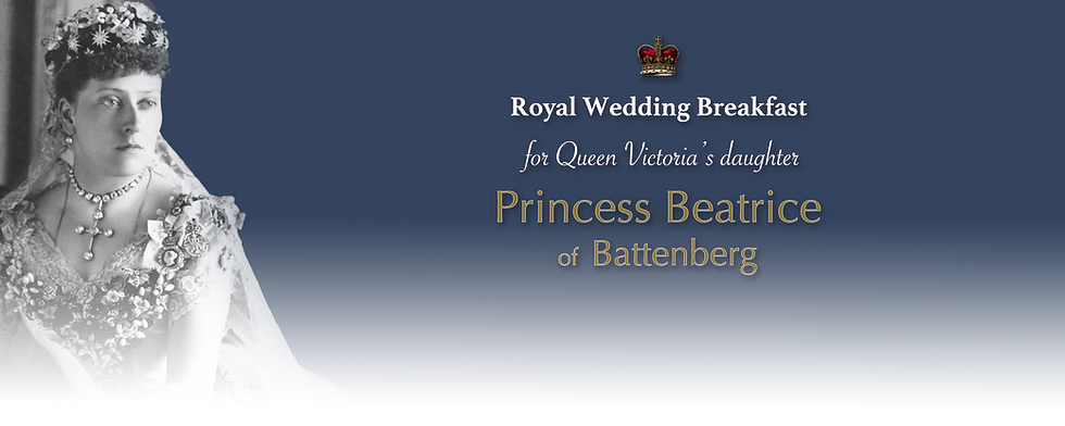 Royal Menus - beatrice battenberg weddin