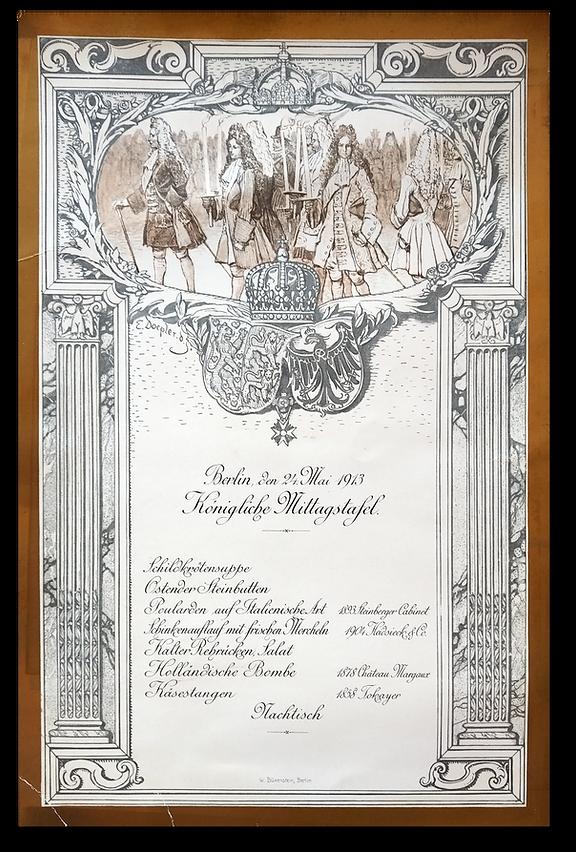 Royal Menus - wedding Princess Viktoria