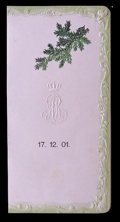 Royal Menu - King albert - saxony - 1901
