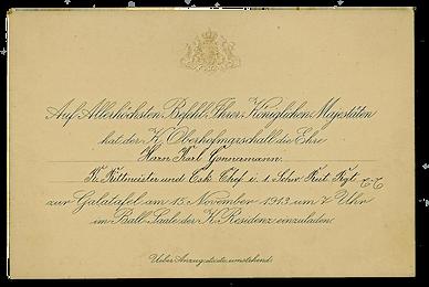 Royal menus - Ludwig III of Bavaria - in