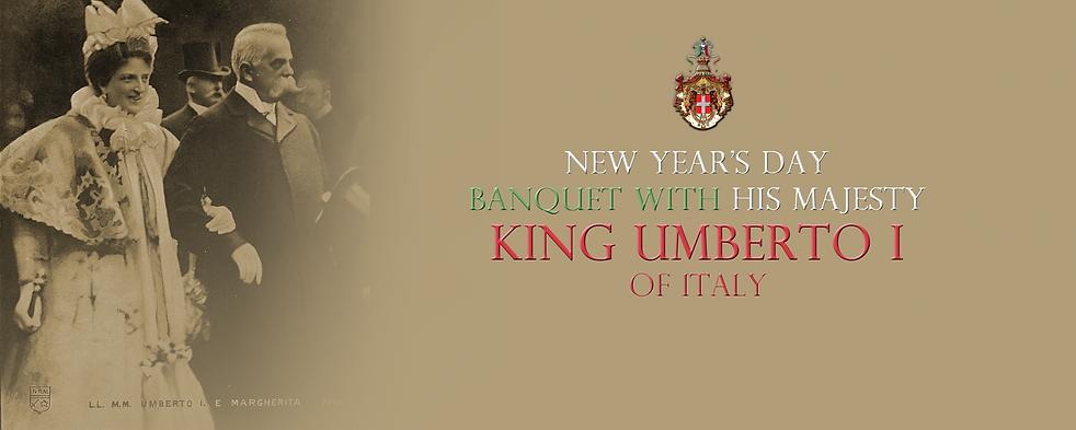 Royal Menus - King Umberto I - Italy - N