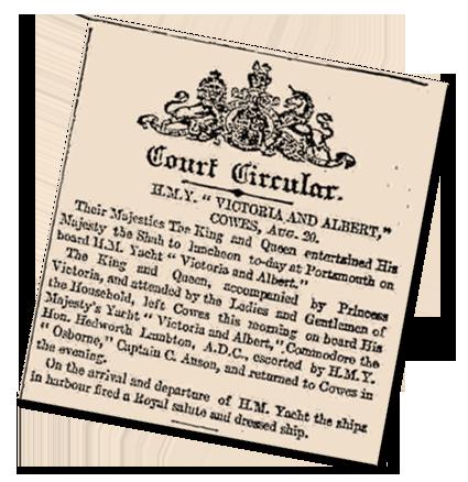 Royal Menus - Court Circular - August 19