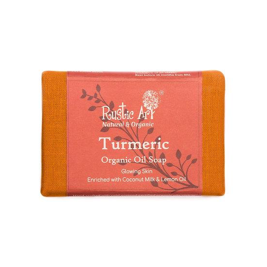Rustic Art Turmeric Soap   Organic & Vegan