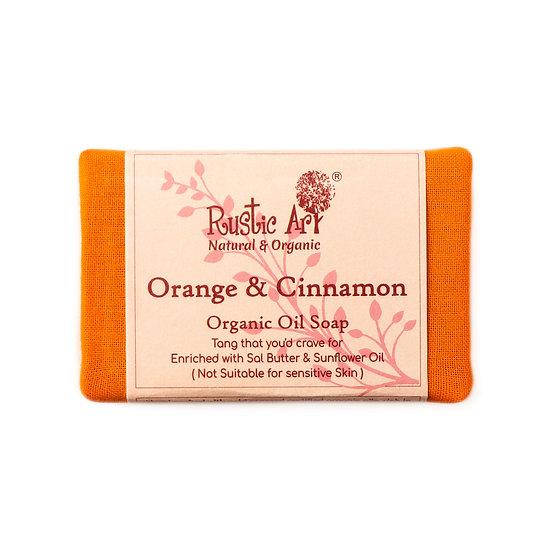 Rustic Art Orange & Cinnamon Soap | Organic & Vegan