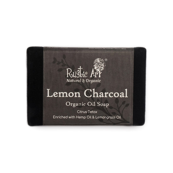 Rustic Art Lemon Charcoal Soap | Organic & Vegan